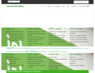 jobcentreplusoffices.co.uk screenshot
