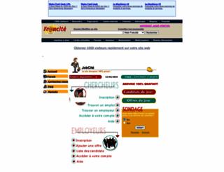 jobcite.francite.com screenshot