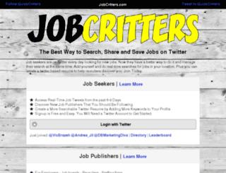 jobcritters.com screenshot