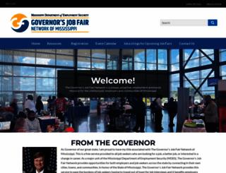 jobfairs.ms.gov screenshot