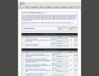 jobforum.ca screenshot