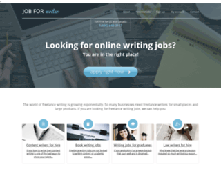 jobforwriter.com screenshot