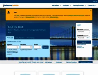 joblink.delaware.gov screenshot