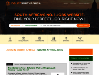 joblistsouthafrica.com screenshot