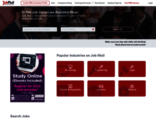 jobmail.co.za screenshot