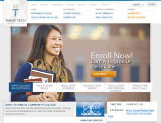 jobplacement.waketech.edu screenshot