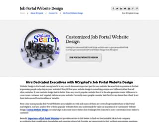 jobportalwebsitedesign.weebly.com screenshot