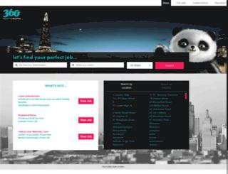 jobs.360resourcing.co.uk screenshot