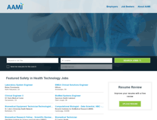 jobs.aami.org screenshot