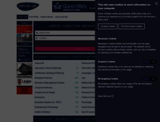 jobs.ac.uk screenshot