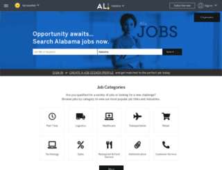 jobs.al.com screenshot