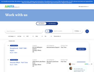 jobs.amitahealth.org screenshot