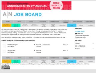 jobs.archpaper.com screenshot