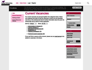 jobs.aston.ac.uk screenshot