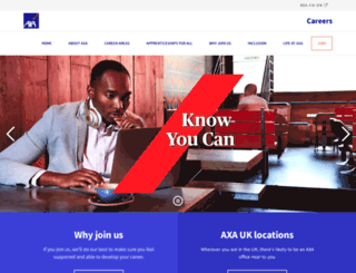 jobs.axa.co.uk screenshot