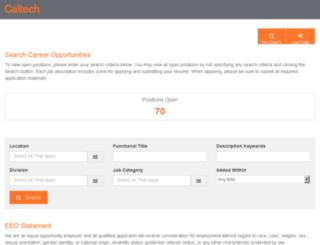 jobs.caltech.edu screenshot