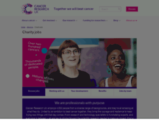 jobs.cancerresearchuk.org screenshot