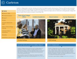 jobs.carleton.edu screenshot