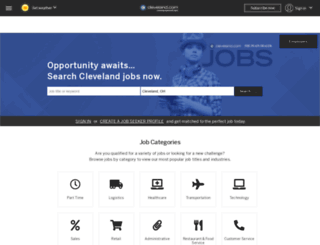 jobs.cleveland.com screenshot