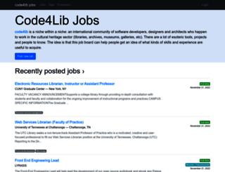 jobs.code4lib.org screenshot