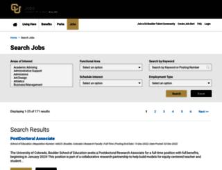jobs.colorado.edu screenshot