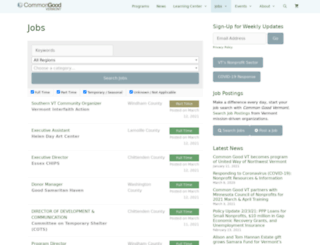 jobs.commongoodvt.org screenshot
