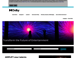 jobs.dolby.com screenshot