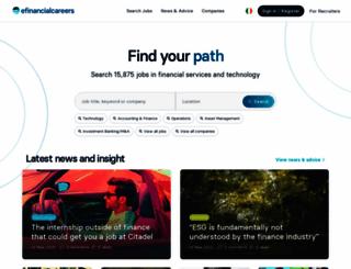 jobs.efinancialcareers.ie screenshot