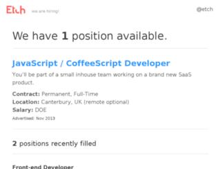 jobs.etchapps.com screenshot
