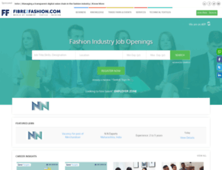 jobs.fibre2fashion.com screenshot