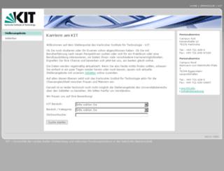 jobs.fzk.de screenshot