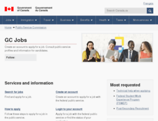 jobs.gc.ca screenshot