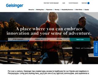 jobs.geisinger.org screenshot