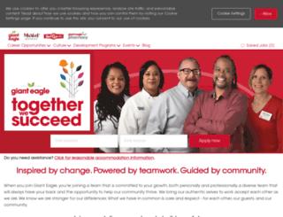 jobs.gianteagle.com screenshot