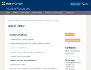 jobs.harpercollege.edu screenshot