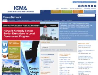 jobs.icma.org screenshot