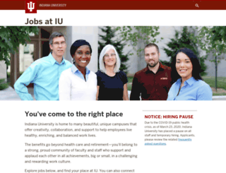 jobs.indiana.edu screenshot