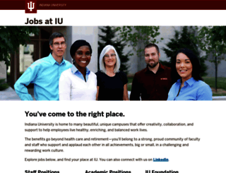 jobs.iu.edu screenshot
