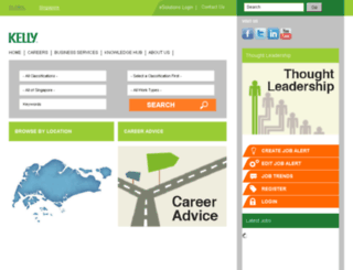 jobs.kellyservices.com.sg screenshot