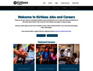jobs.kirklees.gov.uk screenshot