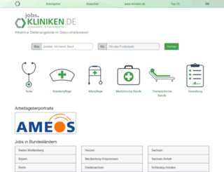 jobs.kliniken.de screenshot