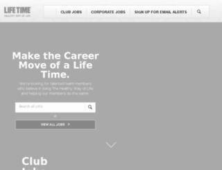 jobs.lifetimefitness.com screenshot