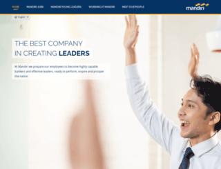 jobs.mandiricareer.net screenshot