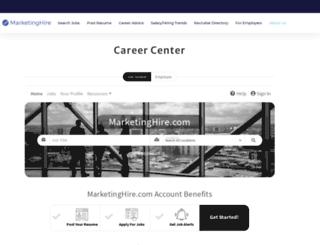 jobs.marketinghire.com screenshot