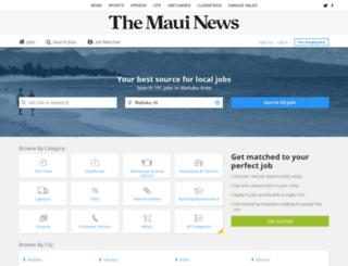jobs.mauinews.com screenshot