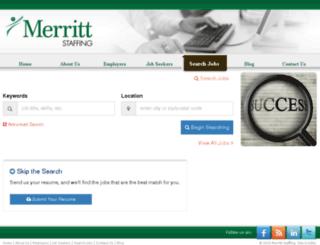jobs.merrittstaffing.com screenshot