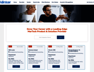 jobs.milestoneinternet.com screenshot