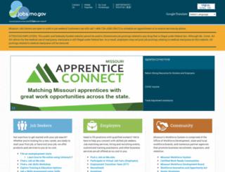 jobs.mo.gov screenshot