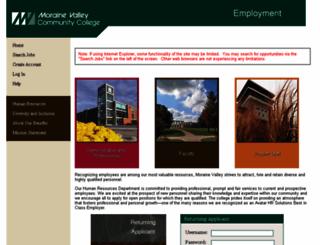 jobs.morainevalley.edu screenshot