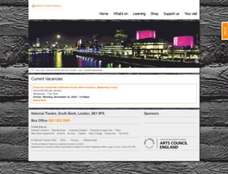 jobs.nationaltheatre.org.uk screenshot